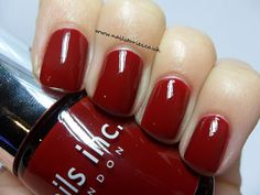 Beautiful dark cherry red - Nails Inc Tate. Not my nails. This looks darker in real life, and it's gorgeous.