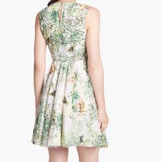 Ted Baker Butterfly Nature Printed Swing Dress 3 Adorable Spring and summer  dress. This is a Ted Baker size Ted Baker Dresses Mini bcdca7c57