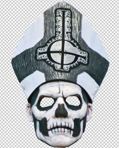 Ghost, Papa Emeritus II Mask - http://www.aux.tv/2013/10/19-printable-musician-masks-for-halloween/