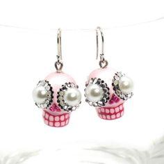 http://stores.ebay.com/madamepOmm-BlueWitch  SKULL EARRINGS CALAVERA JEWELRY VALENTINE GIFTS SUGAR SKULL CERAMIC GIFTS 00101.