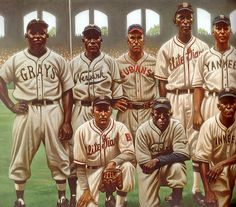 Negro League East All-Stars by Kadir Nelson Best Baseball Player, Baseball Boys, Baseball Stuff, African American Artist, African Art, Bowman Baseball Cards, Kadir Nelson, Baseball Painting, Negro League Baseball
