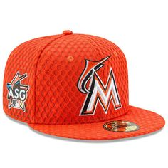 Miami Marlins New Era 2017 Home Run Derby Side Patch 59FIFTY Fitted Hat - Orange