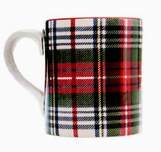 Plaid Mug--would LOVE a set of these in different tartans!