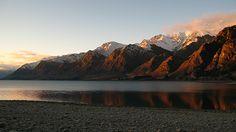 Hawea tó Wanaka közelében Új-Zéland