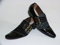 modelos de sapatos de bico fino masculino