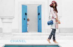Campaign Shot by Karl Lagerfeld Models : Joan Smalls and Hudson Kroenig