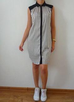 Kup mój przedmiot na #vintedpl http://www.vinted.pl/damska-odziez/krotkie-sukienki/10600615-river-island-m-dluga-koszula-sukienka-koszulowa-z-kolnierzykiem-pensjonarka-krata-kratka-jesienna