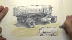 Copic Marker Rendering: sci-fi truck