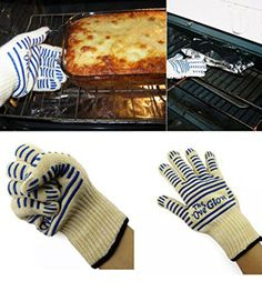 Itinlu 1x Kitchen Microwave Oven Glove Heat Proof Resistant 540 F Cooking Tools for Right Left Hand Protective Universal White  Blue Color -- This is an Amazon Affiliate link. Be sure to check out this awesome product.