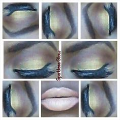 Gold and brown.  With nude lips