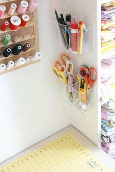 Storage idea for craft supplies.