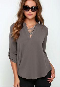 e8ffd96b3ae Foreign trade women blouse new explosion models blusa V-neck chiffon blouse  clothing vestidos LBD3160