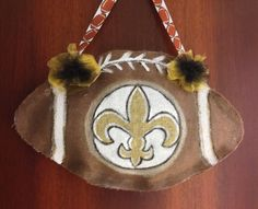 Better pic of my burlap Saints football door / wall hanger.  Available at http://www.etsy.com/shops/mermaidmadness2013