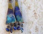 Space Traveller. Handmade earrings.