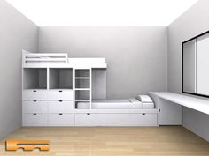 Youngsters Bedroom Furnishings – Bunk Beds for Kids Bunk Beds For Girls Room, Bunk Bed Rooms, Cool Kids Bedrooms, Bunk Beds With Stairs, Kid Beds, Girls Bedroom, Small Room Design, Kids Room Design, Sibling Room