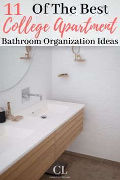 11 College Apartment Bathroom Organization Ideas | Best College Apartment Organization Ideas - Cassidy Lucille