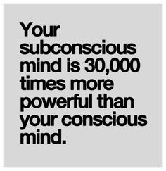 Your subconscious mind is times more powerful than your conscious mind. If you want to change anything your going to have to start with changing your subconscious. Inspirational Quotes Pictures, Great Quotes, Quotes To Live By, Me Quotes, Motivational Quotes, Qoutes, Quotes Images, Guided Meditation, Jiddu Krishnamurti
