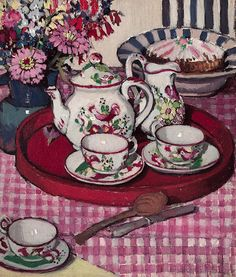 Margaret Preston (Australian, 1875-1963) Thea Proctor's Tea party, 1924