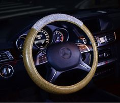 Buy Wholesale Fashion Girls Diamond Leather Car Steering Wheel Covers Crystal Bing Rhinestons Cases - Gold from Chinese Wholesaler Buy Wholesale, Wholesale Fashion, Car Steering Wheel Cover, Gold Powder, Gold Models, Natural Rubber, Car Accessories, Latest Fashion, Girl Fashion