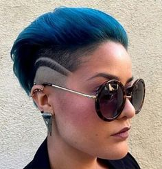 funky colorful mohawk for women