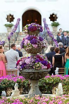 wedding flower fountin