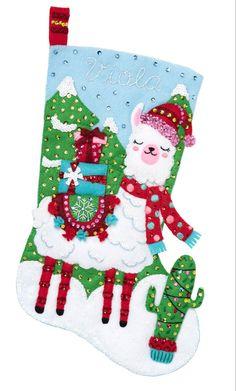 "Bucilla Felt Stocking Applique Kit 18/"" Long-Building A Snowman"