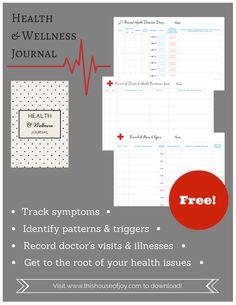 Free Health & Wellness Journal // This House of Joy