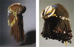 "theotherhistory: "" Ancient Egyptian Wigs Egyptians wore dreadlocks and braided wigs. They made the wigs by growing their hair out, cutting it off, and then sewing the hair to a net.They then decorated. Ancient Egyptian Clothing, Egyptian Era, Egyptian Fashion, Egyptian Women, Egyptian Jewelry, Egyptian Beauty, African History, African Culture, Ancient Artifacts"