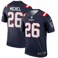 Capture your team's distinct identity when you grab this New England Patriots Sony Michel Legend Jersey from Nike. It features classic New England Patriots graphics to show who you support. Before you head to the next New England Patriots game, grab this incredible jersey so everyone knows your fandom is on full display.Capture your team's distinct identity when you grab this New England Patriots Sony Michel Legend Jersey from Nike. It features classic New England Patriots graphics to show who y New England Patriots Game, Patriots Logo, Patriots Gifts, Blue Game, James White, Julian Edelman, Funny New, National Football League
