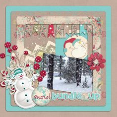 It looks pretty cold out there! I used Once Upon a Snowman Bundle from Mandy King found here:  http://www.gottapixel.net/store/product.php?productid=10015191&cat=0&page= and a template from Seatrout Scraps Turn the Clock Back Part 2 found here:  http://www.gottapixel.net/store/product.php?productid=10014718&cat=&page=2