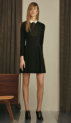 Black Dress, black Bracelet and black Shoes by HUGO