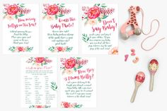 Watercolour Baby Shower Game Printables from Casey Joan Design / Watercolor / Baby Games