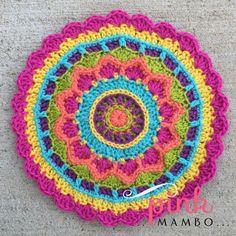 Dream Circle Mandala Free Crochet Pattern from Pink Mambo