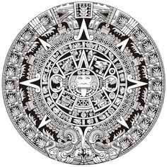 aztec calendar drawing - Google Search