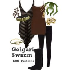 """Golgari Swarm"" by ledodge on Polyvore"