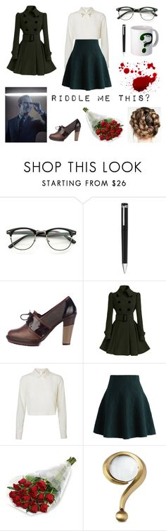 """""""Edward Nygma (Gotham) Genderbend"""" by realslytherinpride ❤ liked on Polyvore featuring Montblanc, Marni, Vero Moda, Chicwish and Kate Spade"""