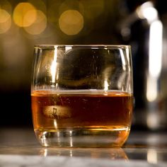 Old Fashioned - whisky, bitters, club soda, sugar, fresh lemon & orange for garnishes