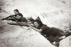 Milicianas en Somosierra (Madrid, 1936)