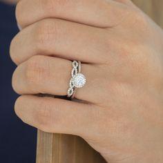0.15 Carat  Pave Set Infinity Wedding Ring