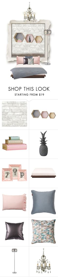 """""""Pastel bedroom (how to make both kids happy!) option 1"""" by bexlacey-lloyd ❤ liked on Polyvore featuring interior, interiors, interior design, home, home decor, interior decorating, Bloomingville, Dot & Bo, Pigeon & Poodle and Pottery Barn"""