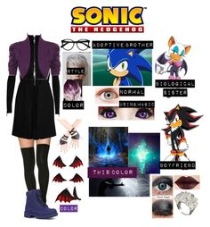 """""""+Me in Sonic The Hedgehog Series+"""" by blissfull-darkness on Polyvore featuring Versus, WearAll, Retrò, Lugz and plus size clothing"""