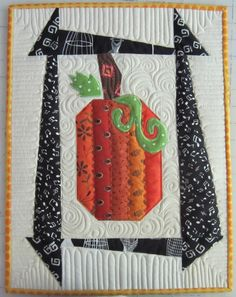 So why am I quilting pumpkins in June? Well, this block design has been going around in my head for weeks. I love the Fall colors and pumpkins. And since our guild bi-annual quilt show is this O...