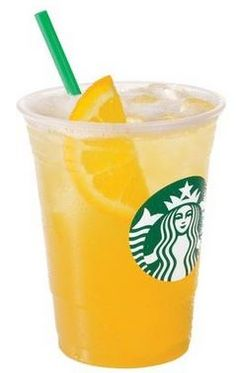 Fruit Roll Up Refresher! Orange Valencia Refresher Made with strawberry juice instead of water, Add orange slices.
