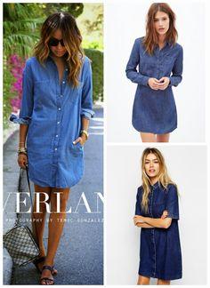 ffc51dd28f 2015 Trend Alert - Denim Shirt Dress