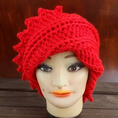Red Crochet Hat Womens Hat Womens Crochet Hat Crochet Beanie Hat Red Hat LAUREN Beanie Hat for Women Crochet Hat 45.00 USD by #strawberrycouture on #Etsy - MUST SEE!