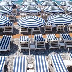 Riviera style blue striped beach chairs and umbrellas #cubanclub17 #newyearsday #killinitatcuban