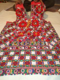 vintage dresses & costumes Beautiful heavily embroidered dress from india