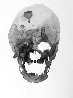 watercolour skull---amazing!!!