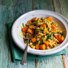 Chickpeas with Butternut Squash