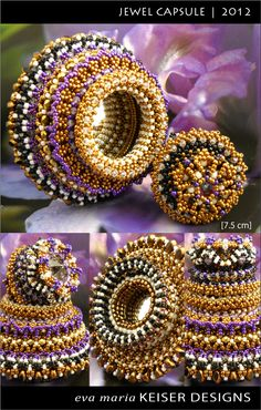 Jewel Capsule | 2012 by Eva Maria Keiser Designs.  Check out all of her work, it is beautiful.